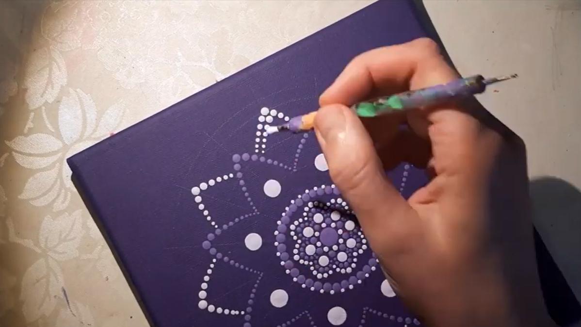 ukázka fialová mandala